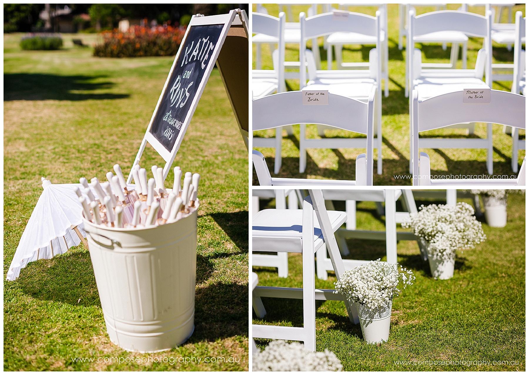 wedding ceremony set up perth
