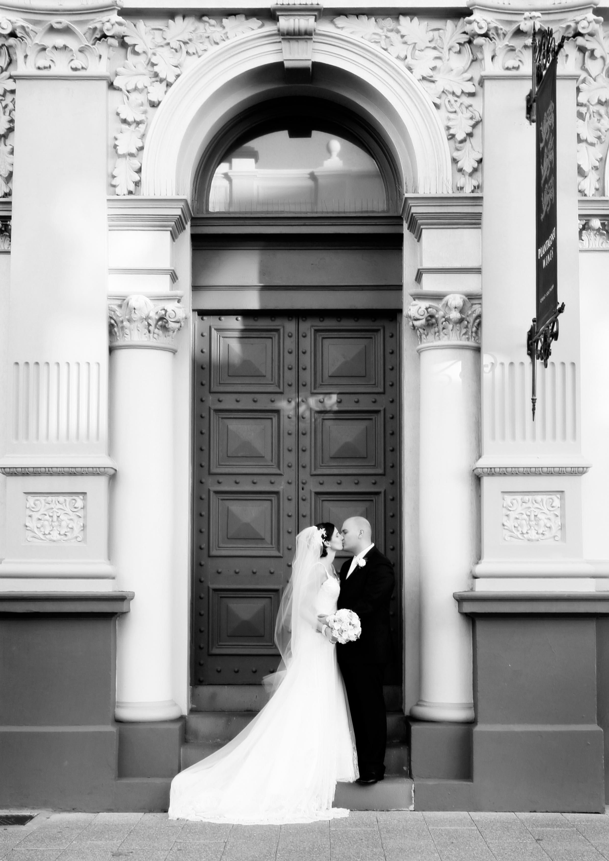 cliff street wedding photo