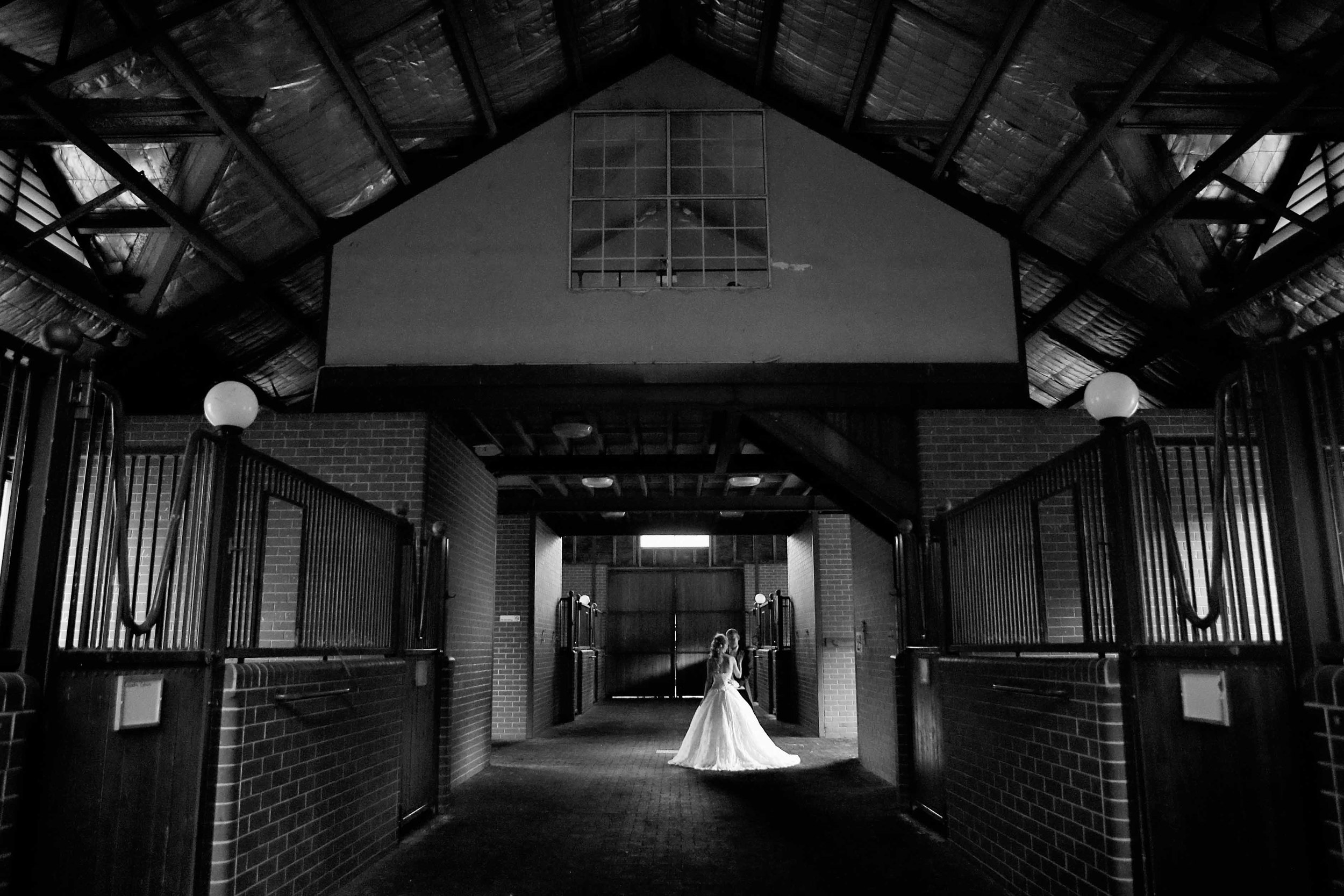 horse stable wedding