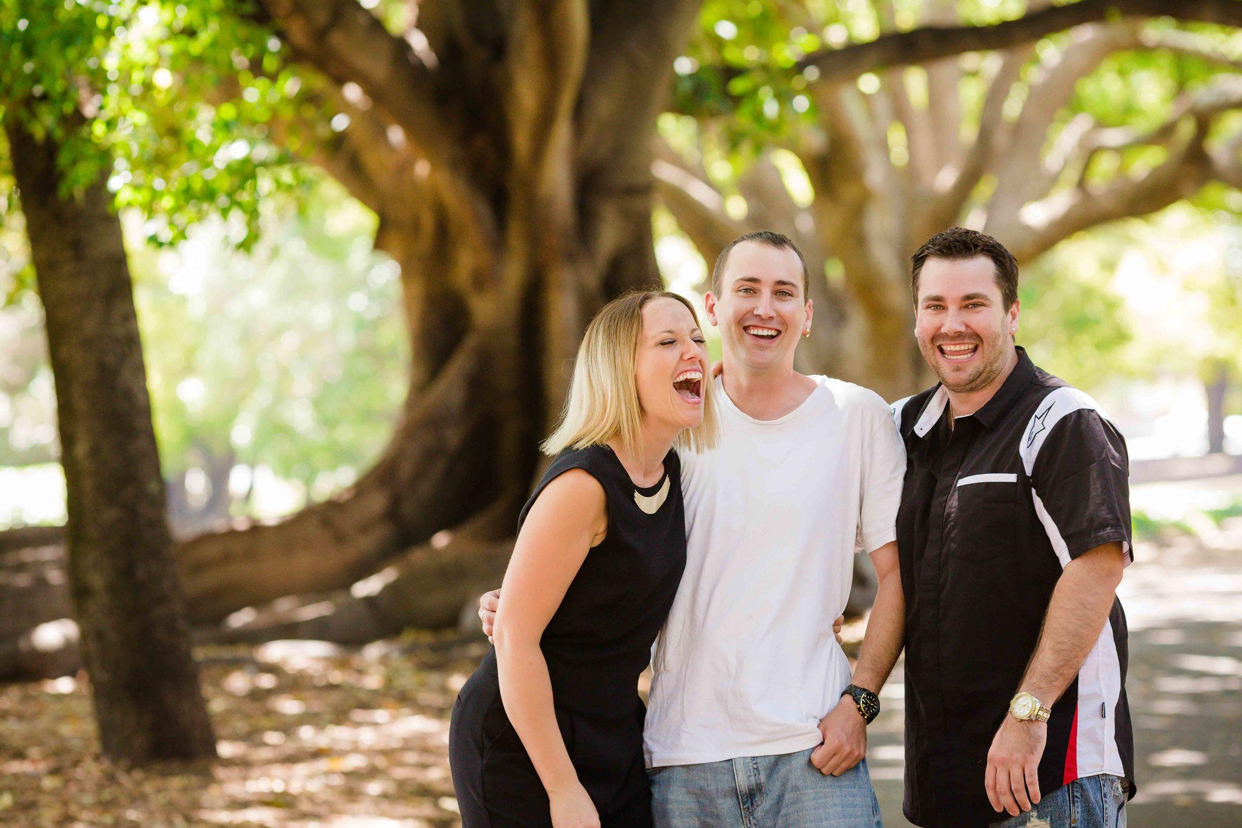 outdoor family portrait perth