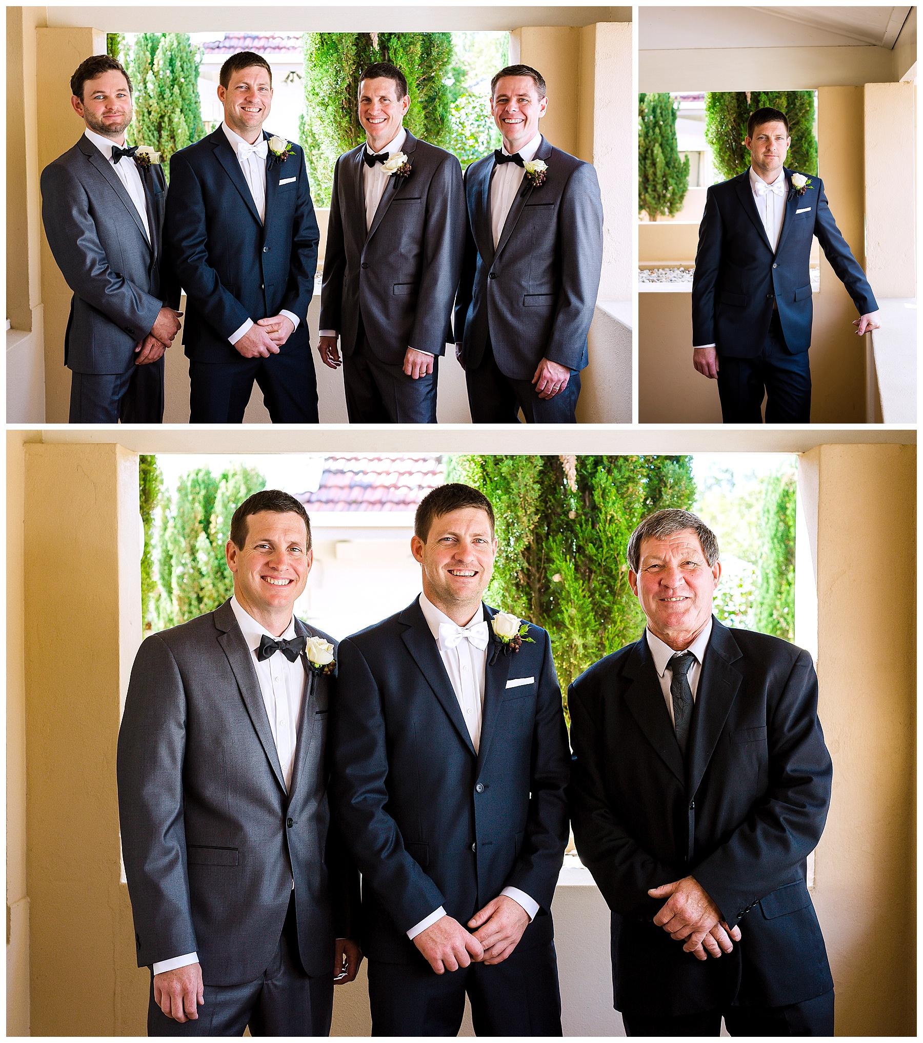 wedding suit with bowtie