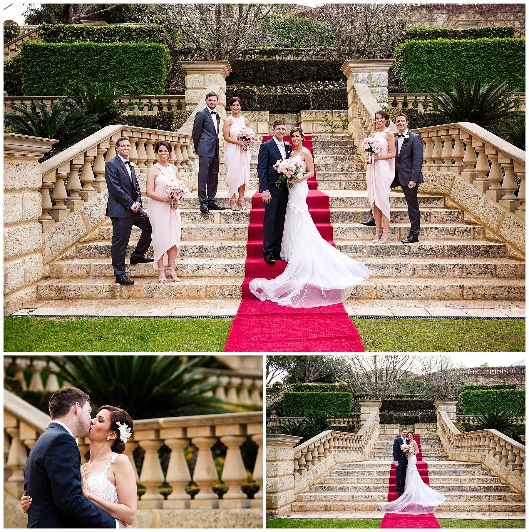 Bridal party at caversham house