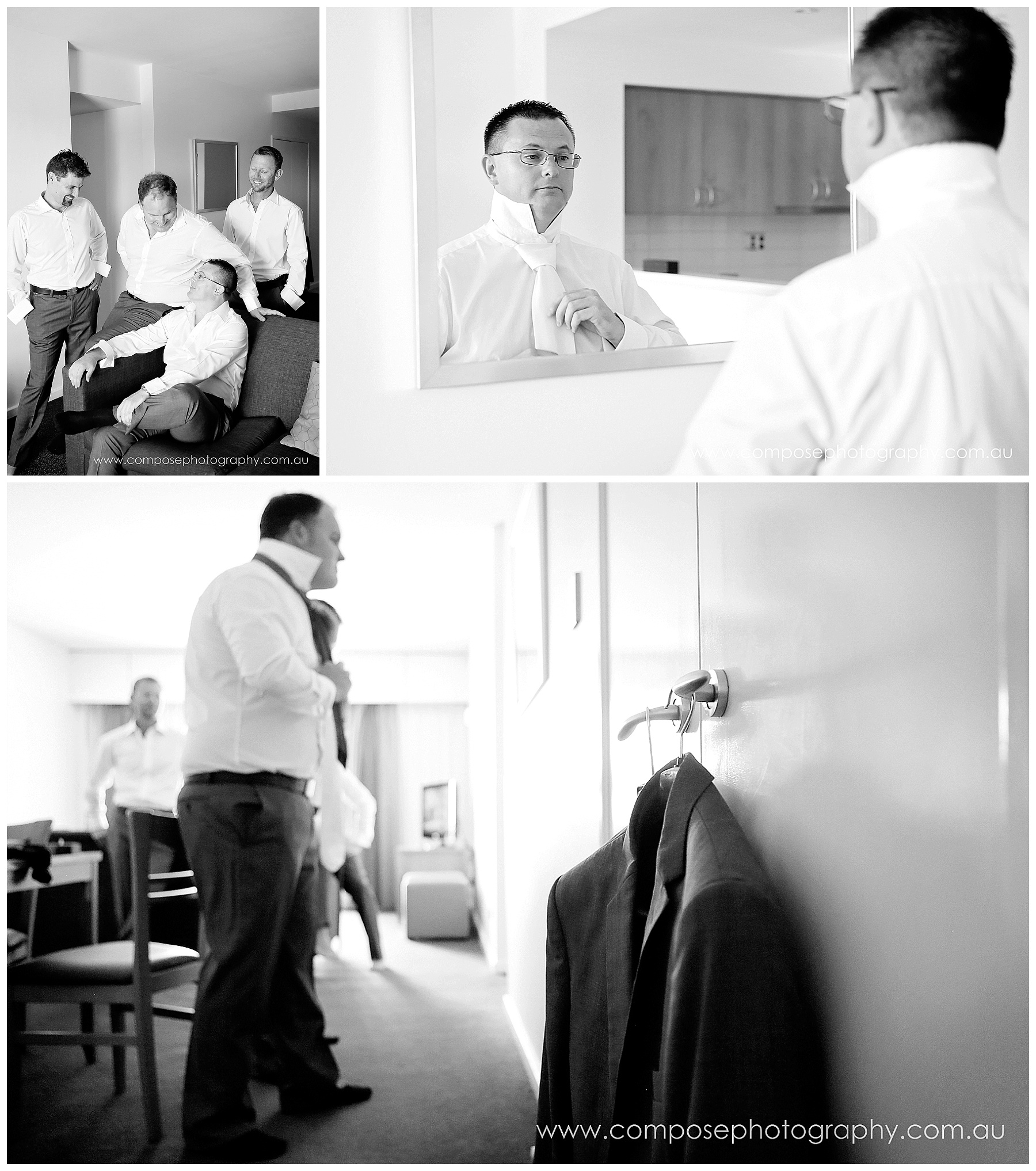 grooms preparation photography