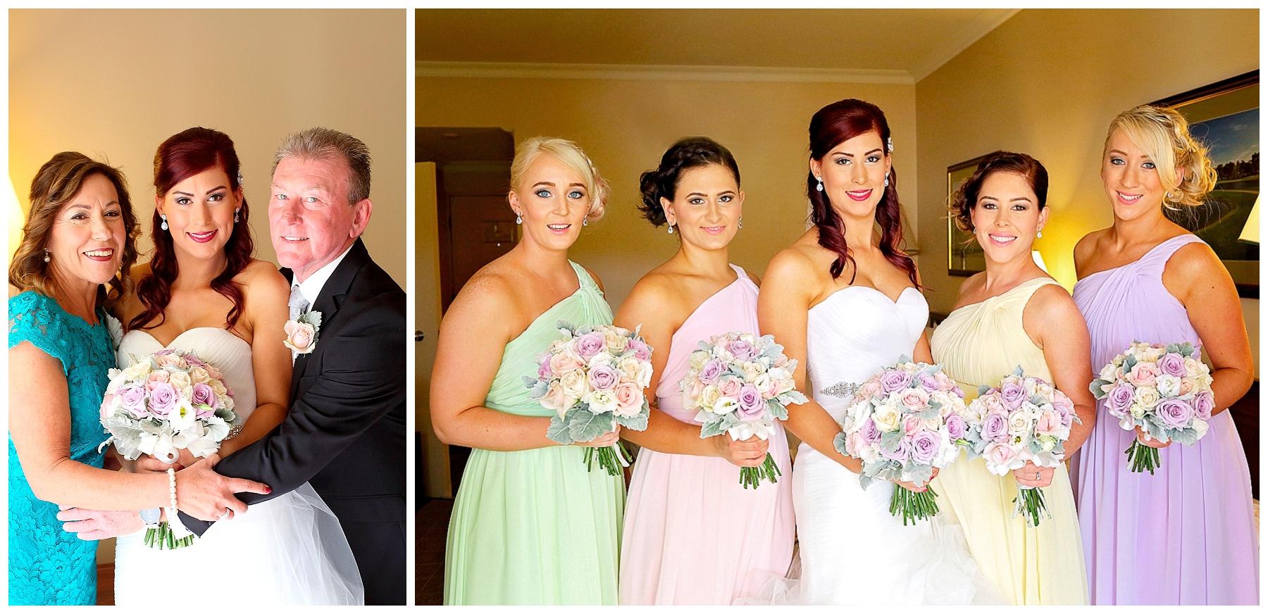 multicoloured bridesmaid dresses