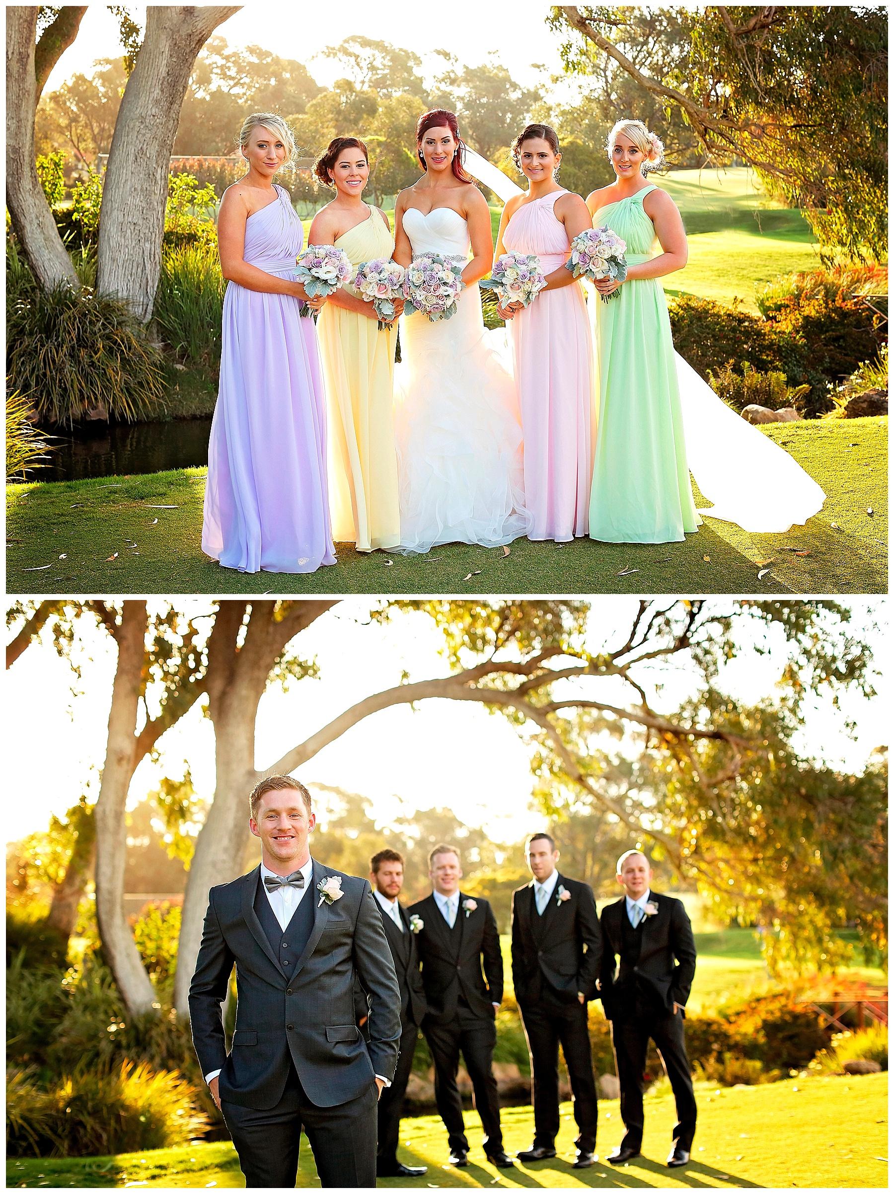bridal party at joondalup resort wedding