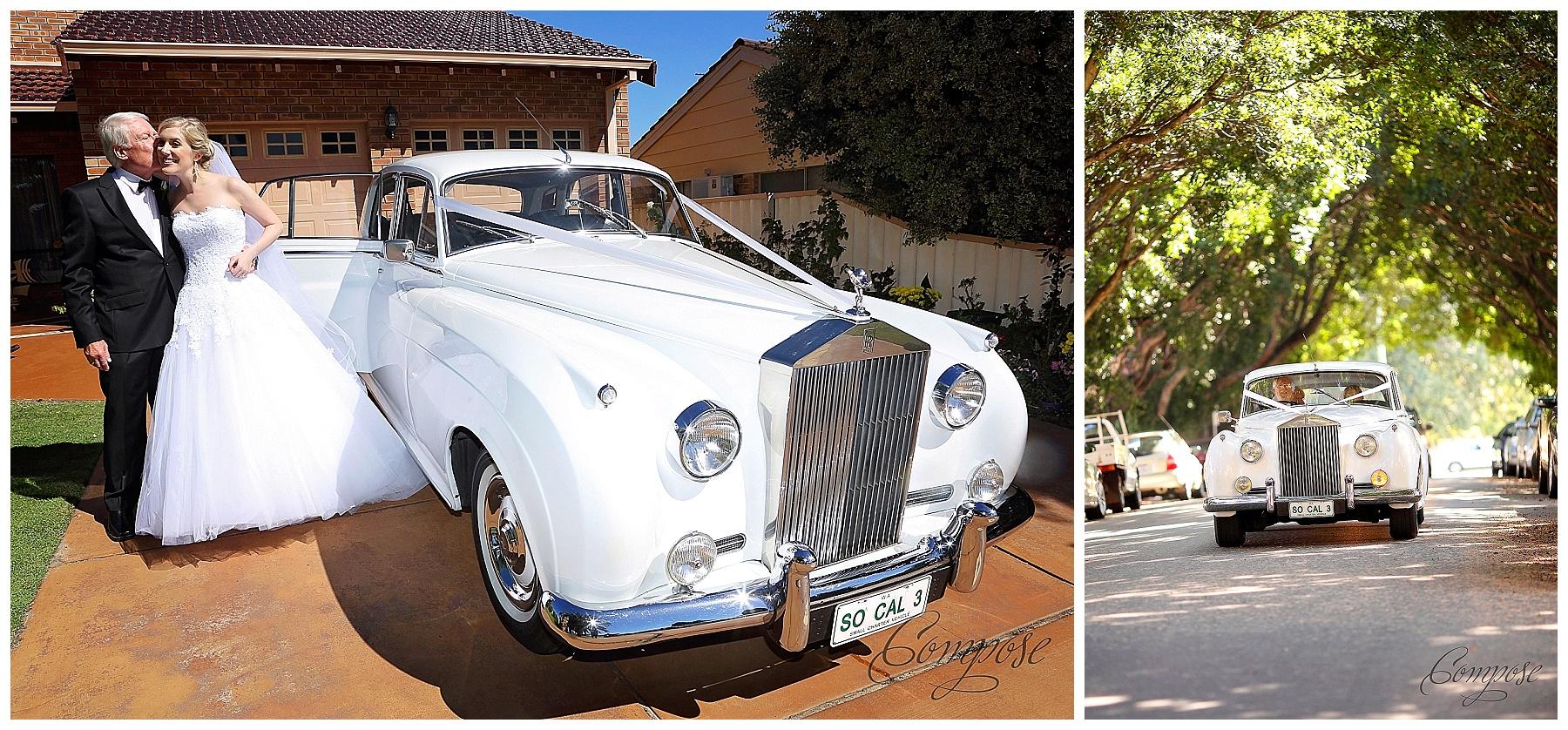 Classic Jaguar wedding car Perth
