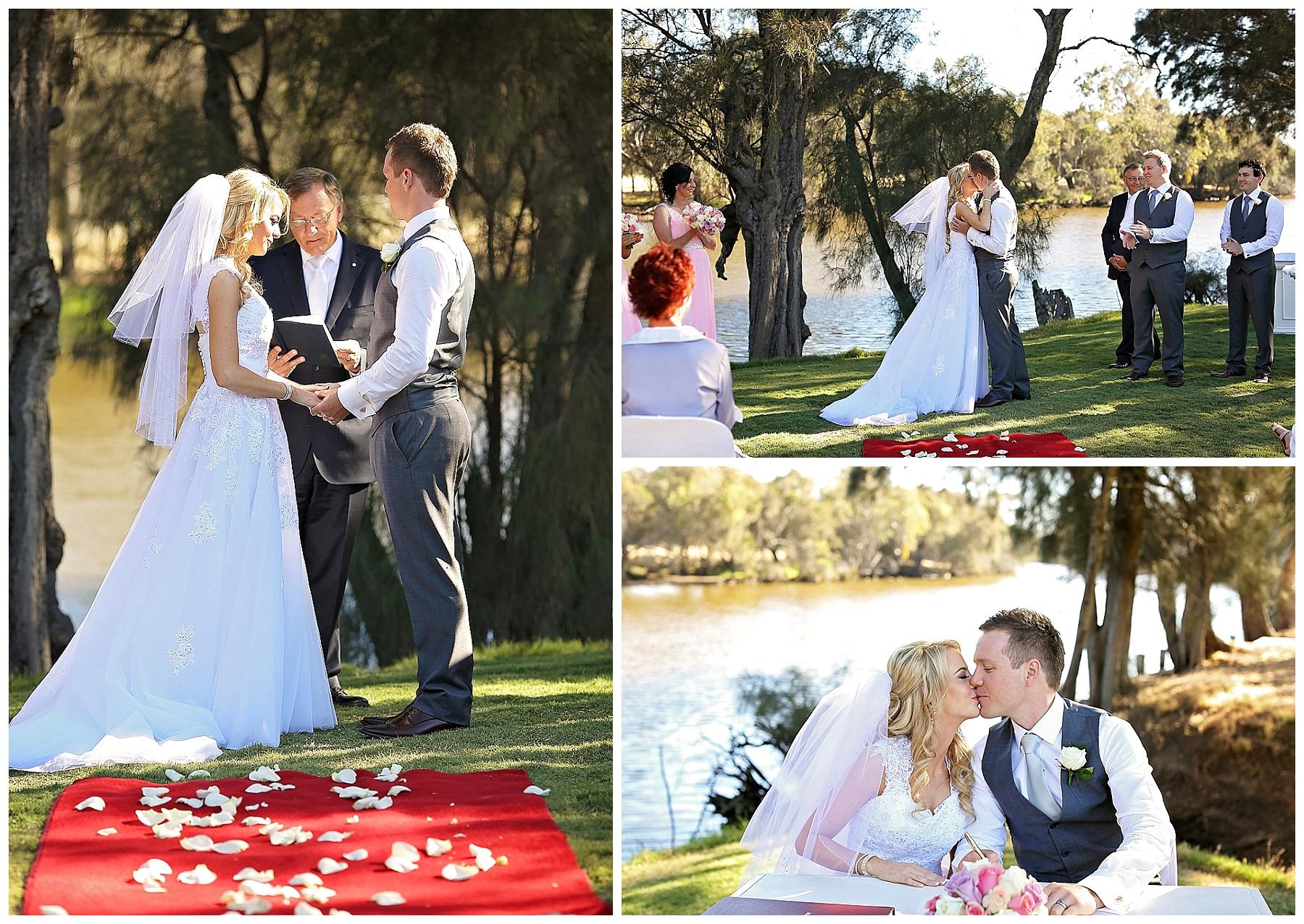 wedding ceremony Mulberry on Swan