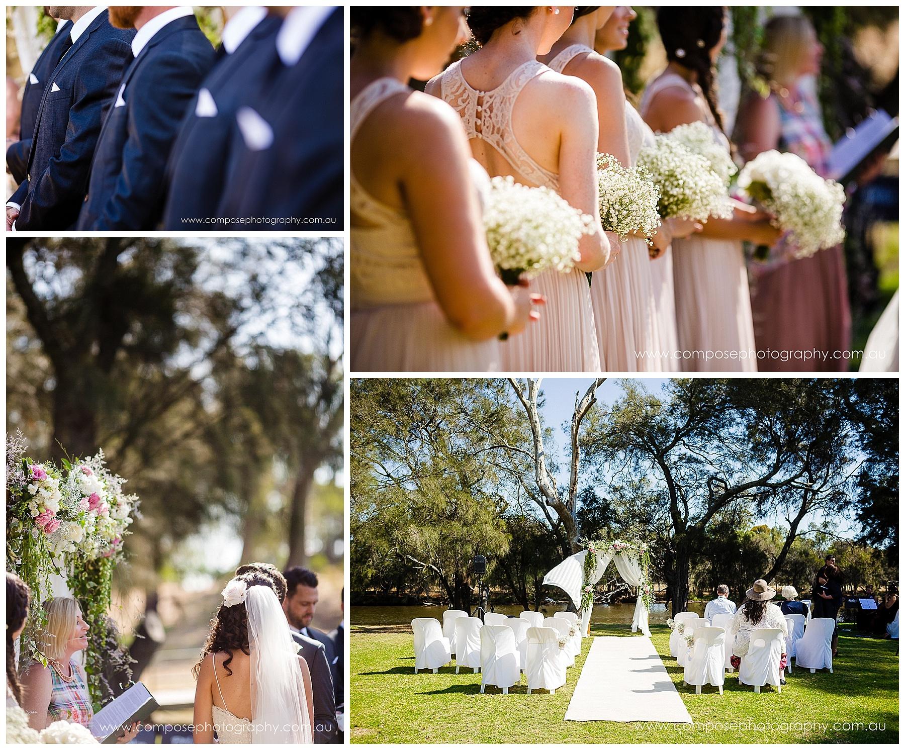 Wedding ceremony styling Perth