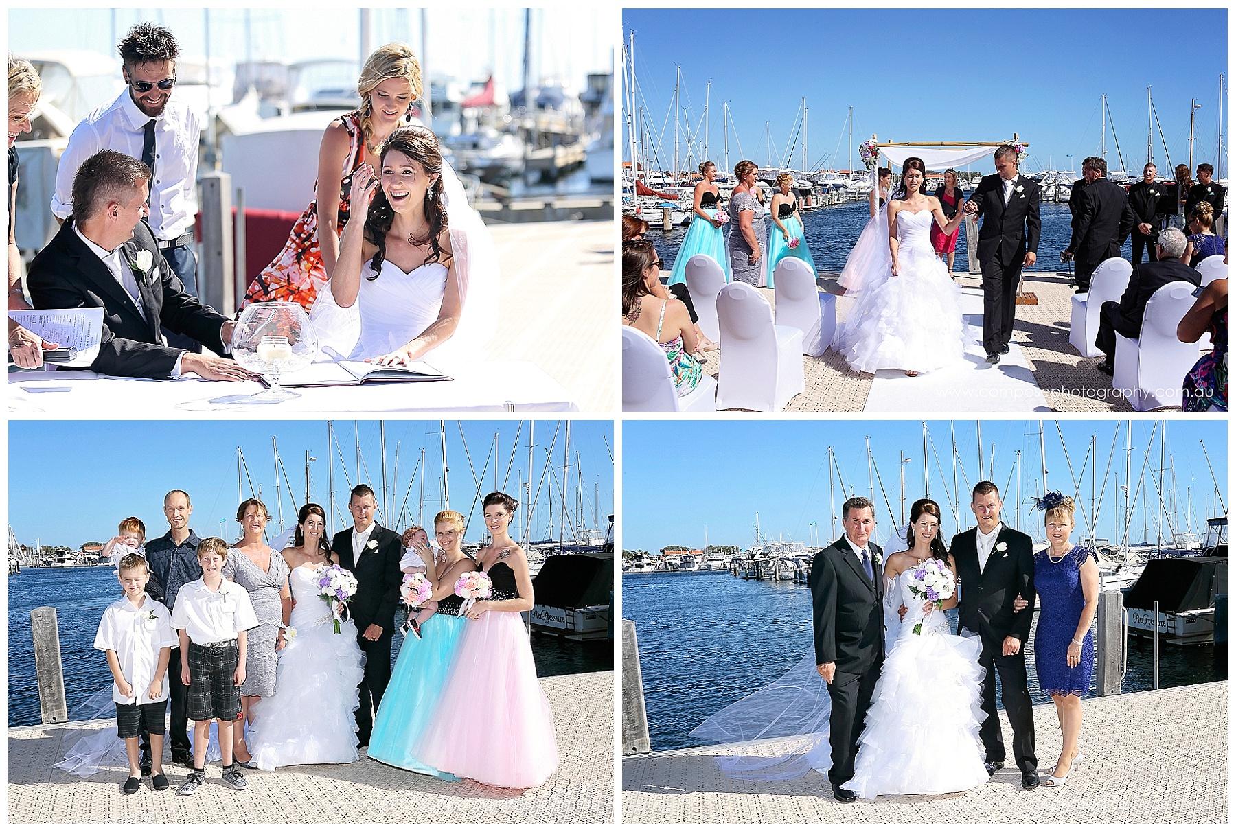 Hillarys Yacht Club Wedding Ceremony
