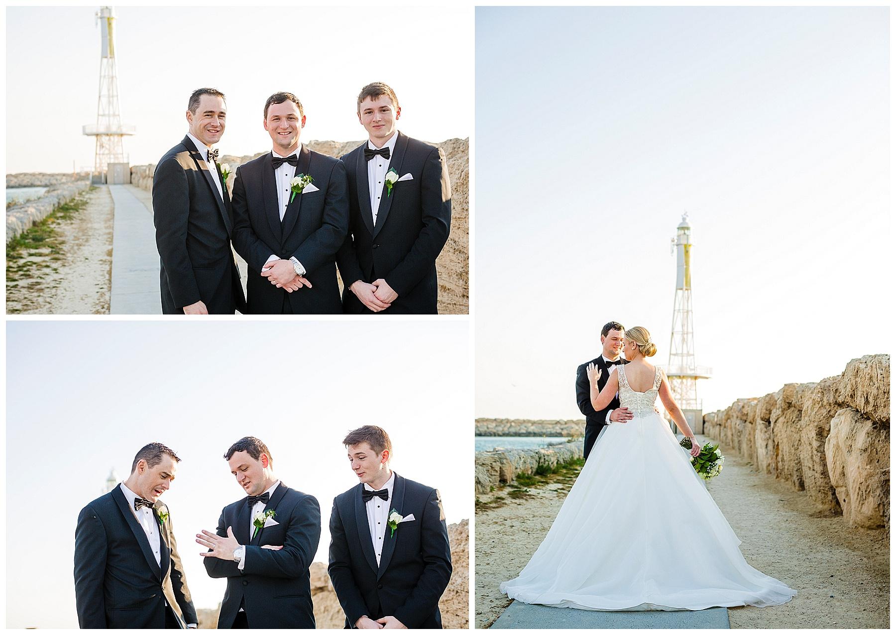 Hillarys lighthouse wedding photo