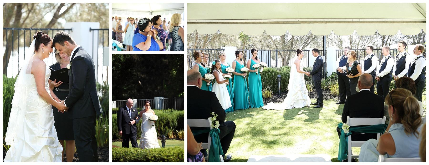 Poolside wedding ceremony ascot quays