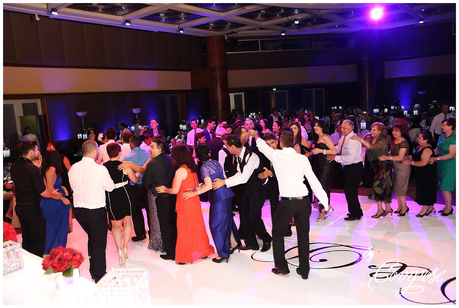Hyatt ballroom wedding reception