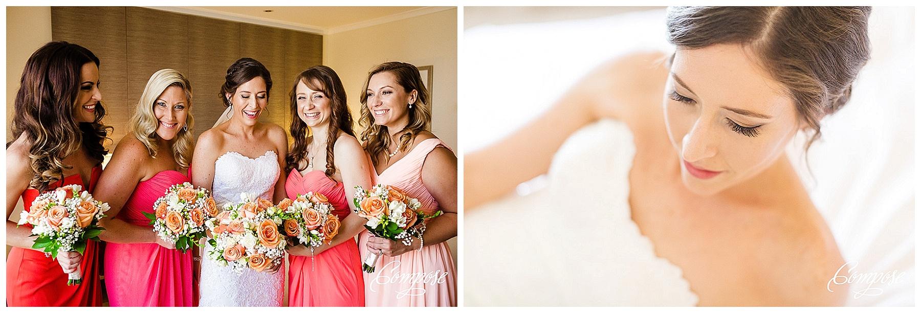 coral bridemaid dress