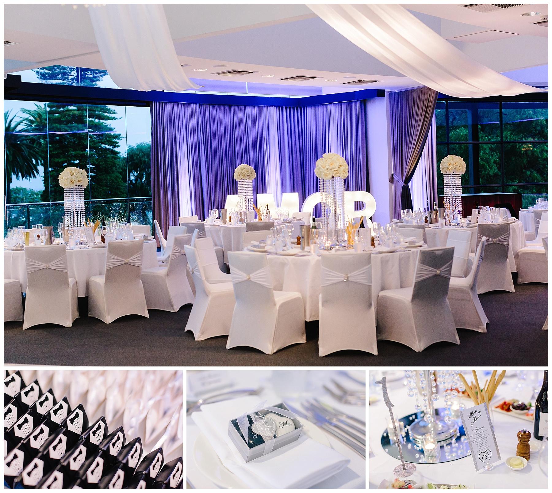 Wedding reception styling Perth