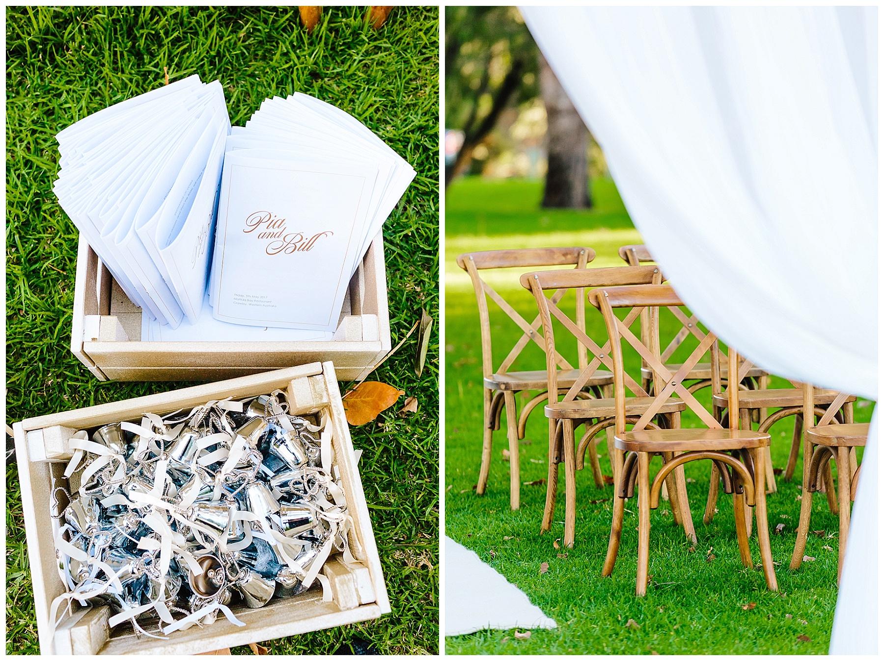 wedding ceremony setup Perth