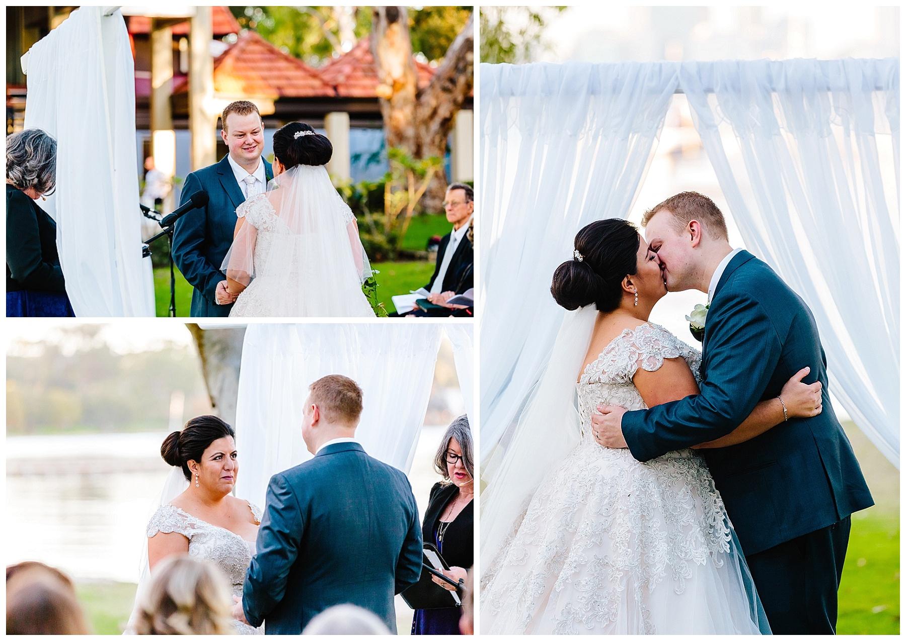 Matilda Bay foreshore wedding