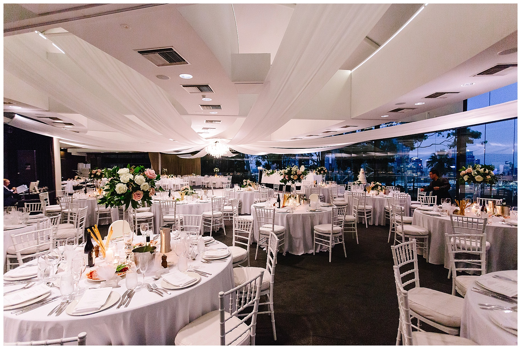 Event Style ceiling drapes at Frasers