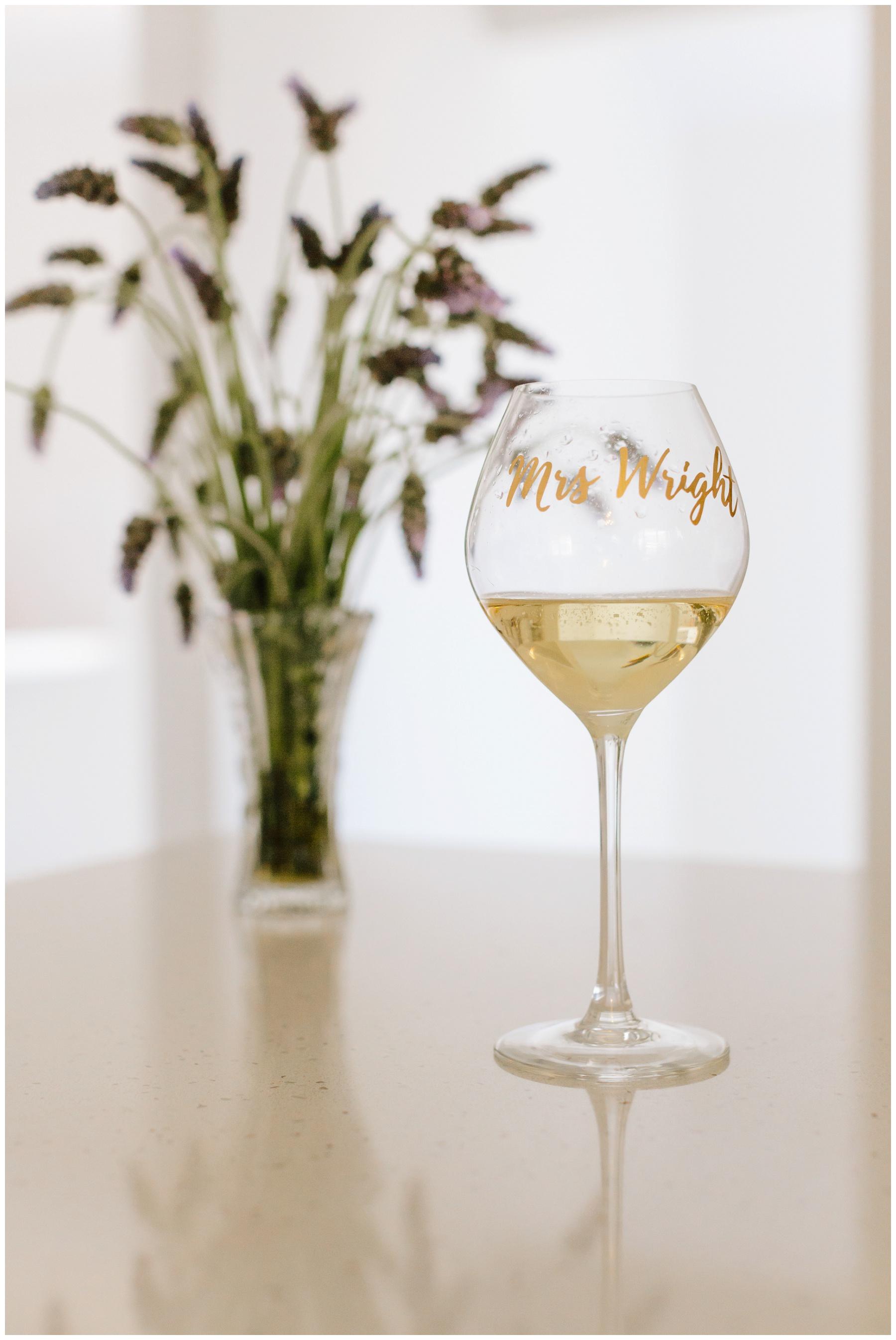 custom bride wine glass