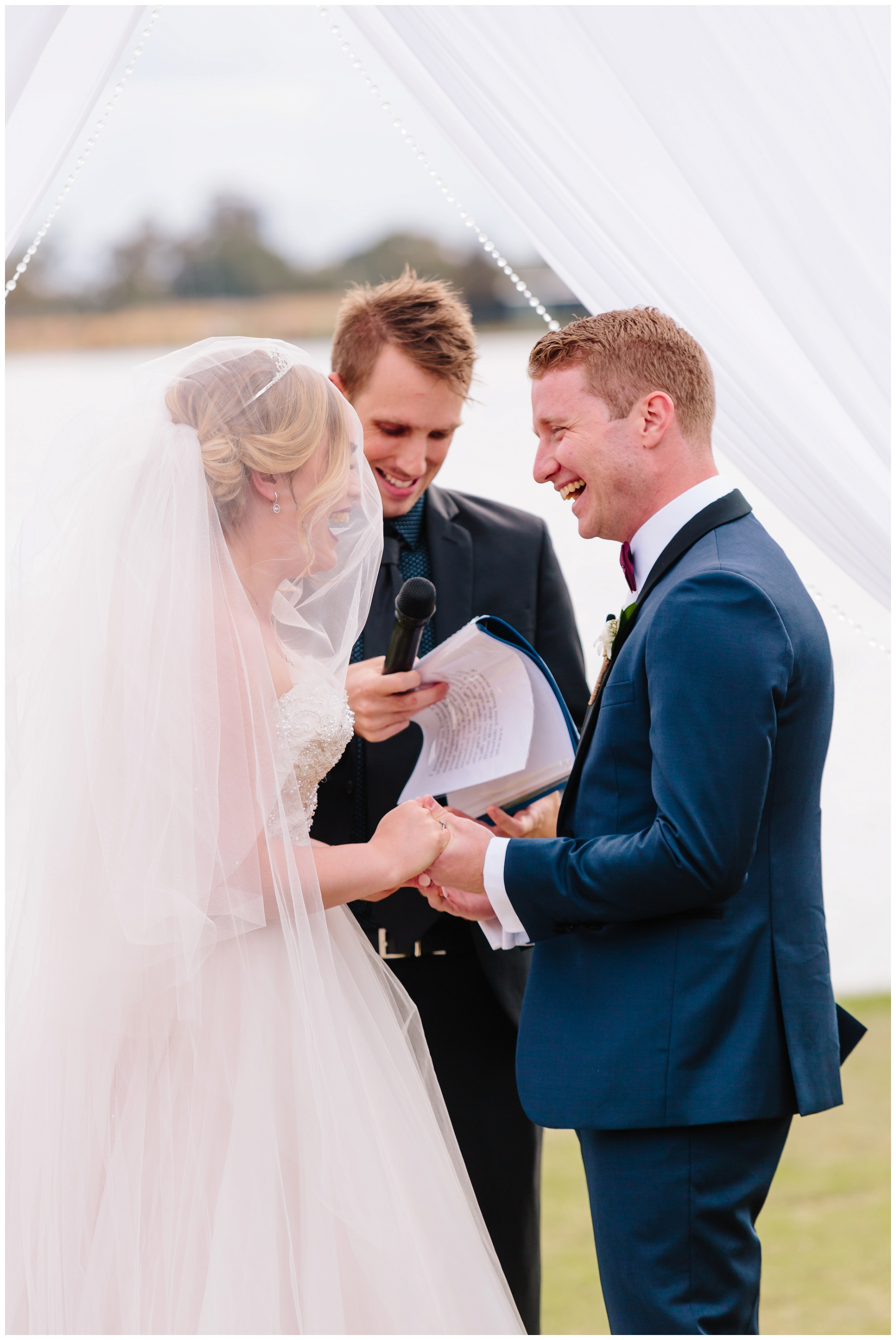 Perth river wedding ceremony