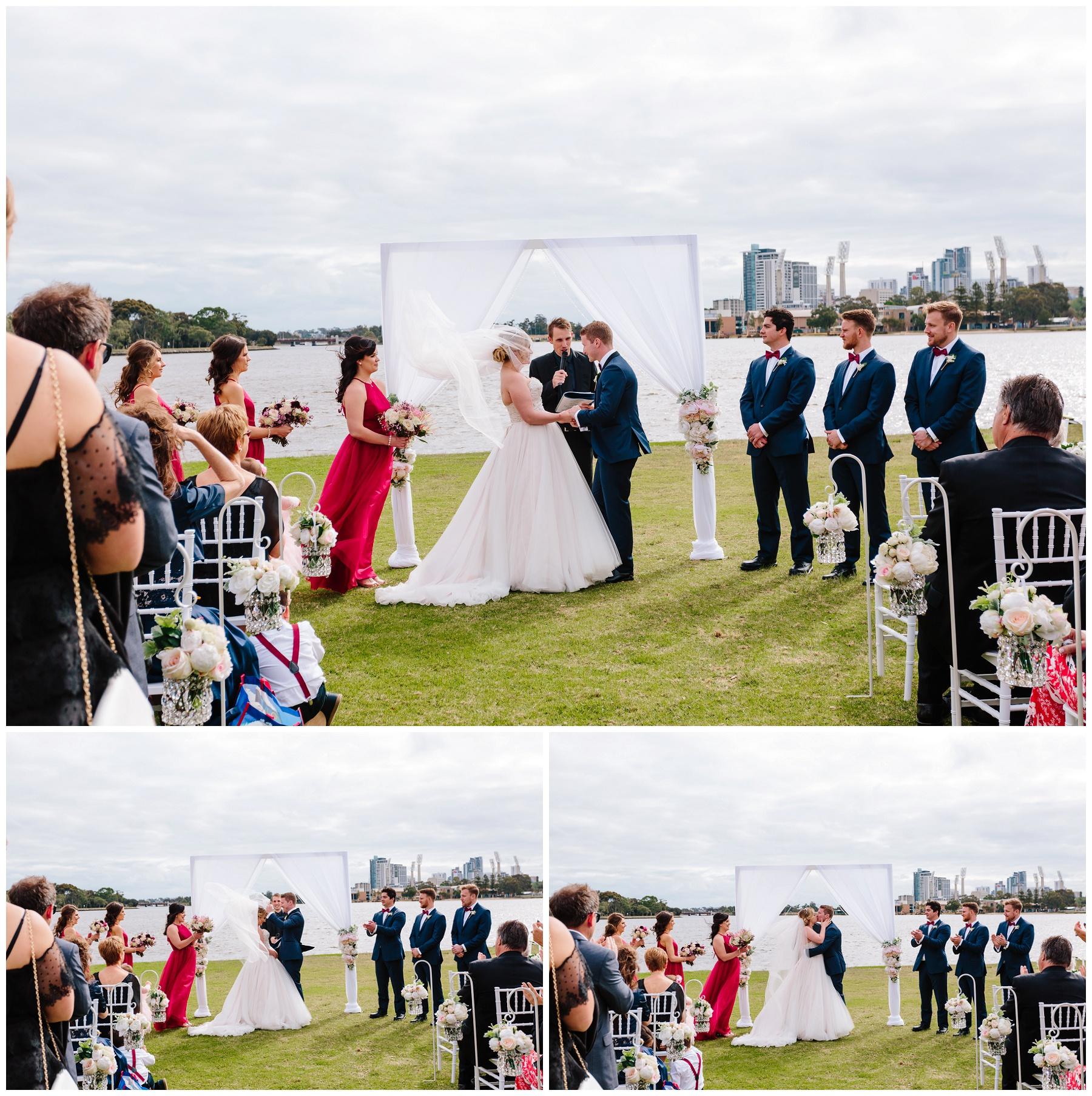 Burswood on Swan wedding ceremony
