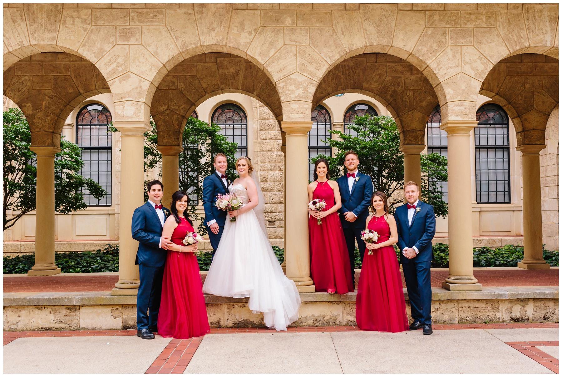 bridal party at UWA