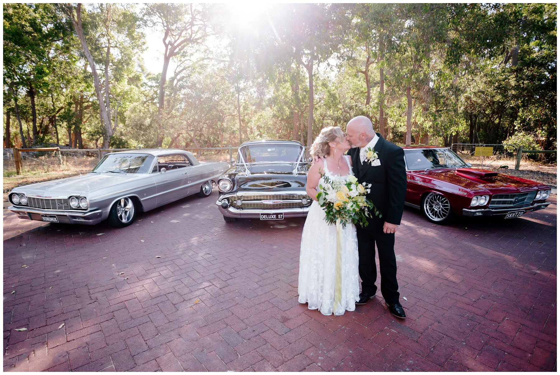 wedding muscle cars