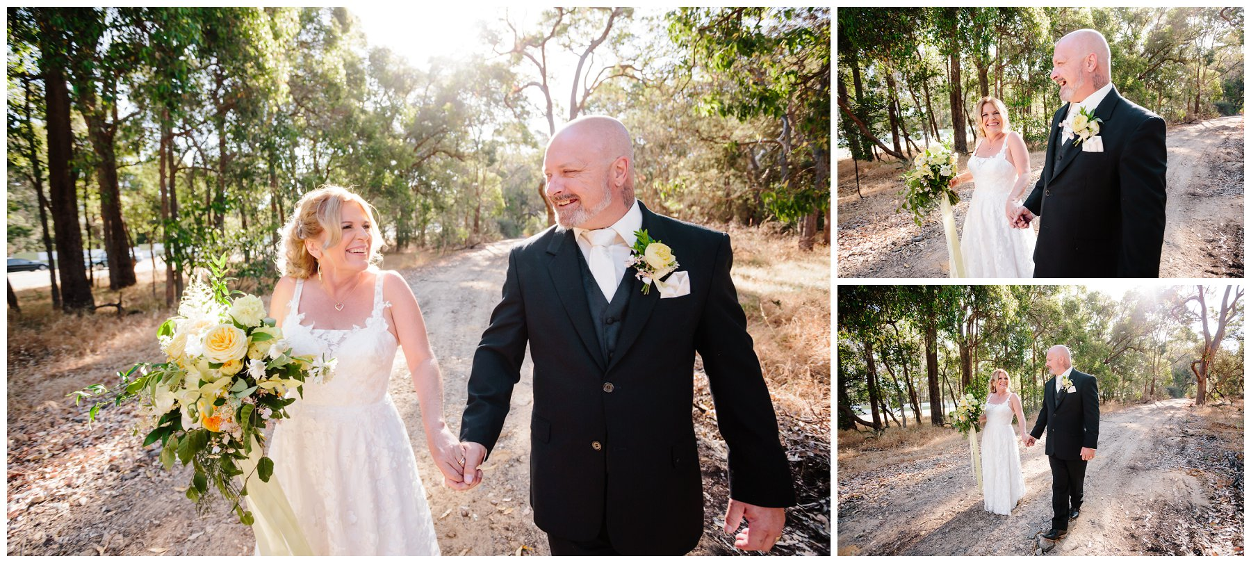 bushland wedding photo