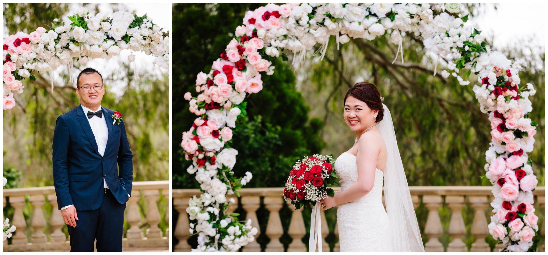 floral arbour wedding