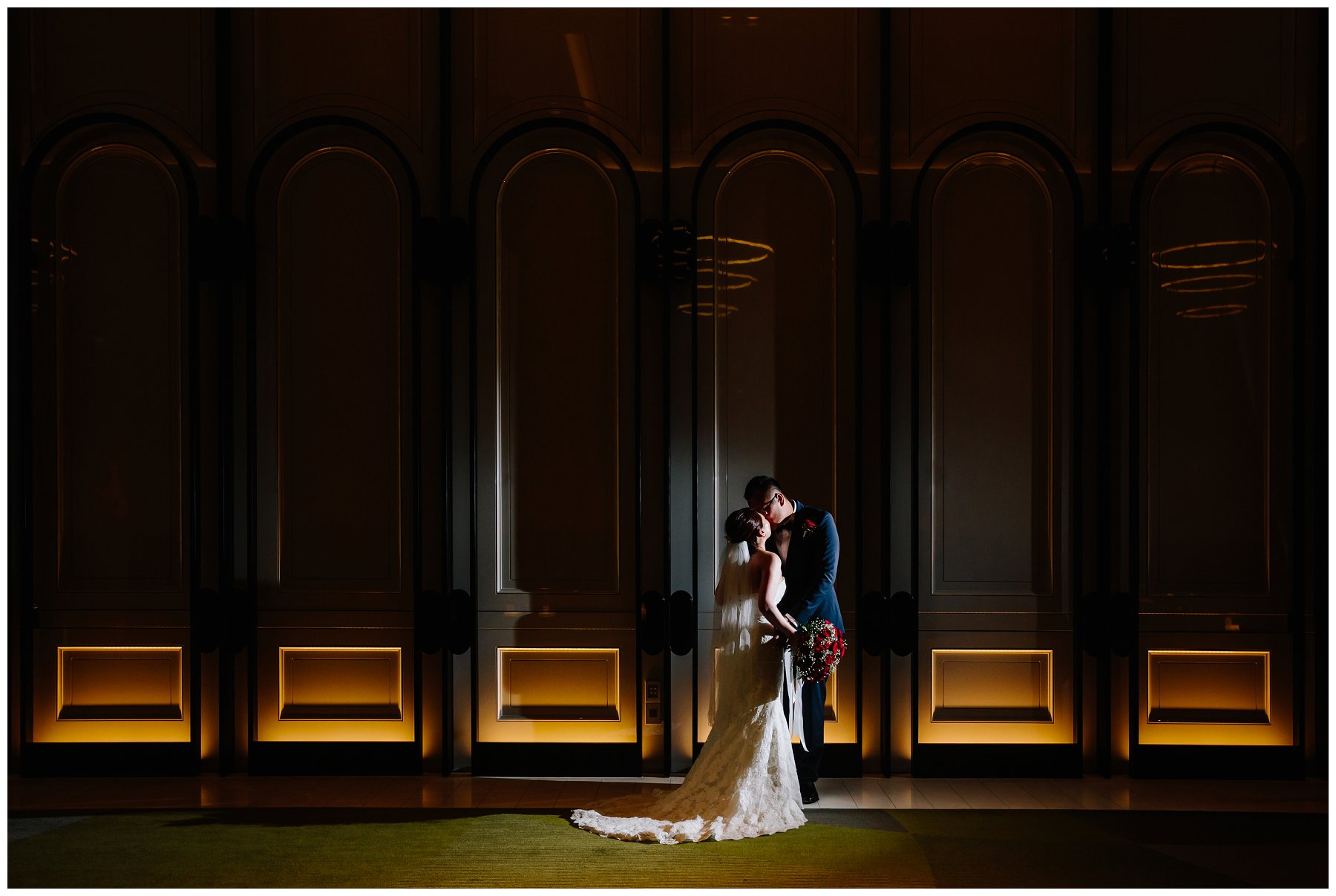 wedding Crown Towers ballroom