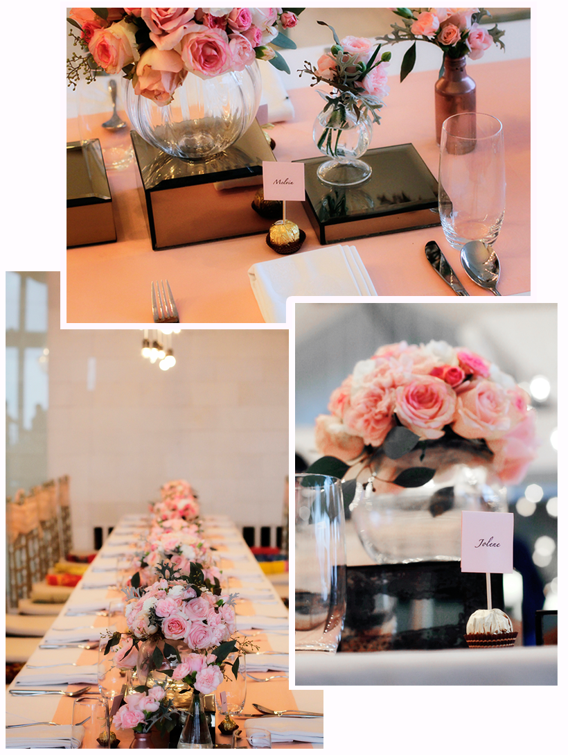 Name cards are laid out meticulously as a thoughtful gesture for guests to easily identify their seats.