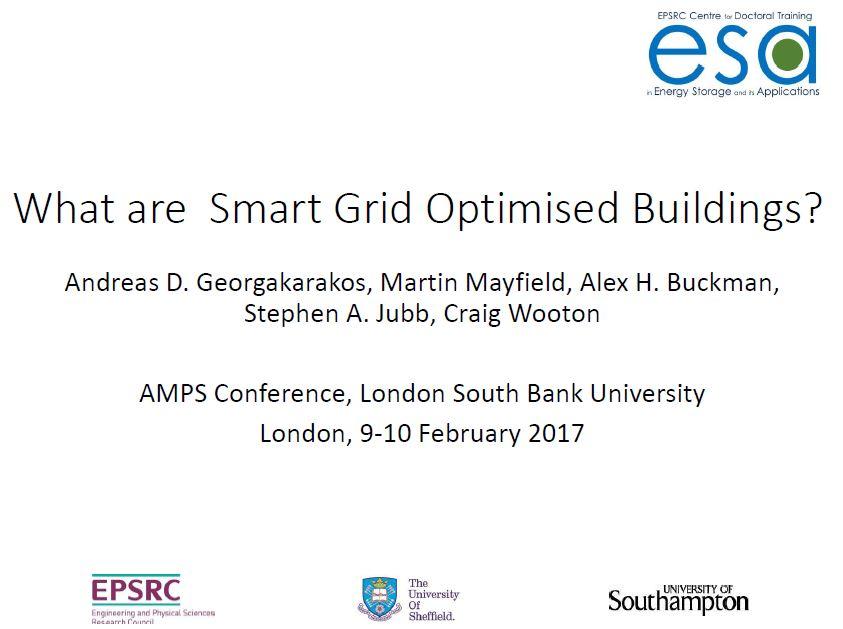 """Andreas Georgakarakos """"What are Smart Grid Optimised Buildings?"""""""