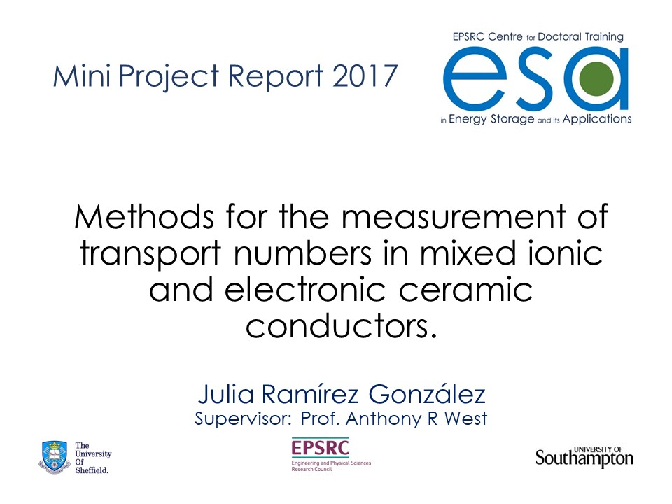 Methods for the measurement of transport numbers in mixed ionic and electronic ceramic conductors.