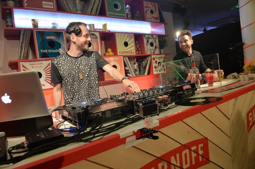 DJs spinning discs