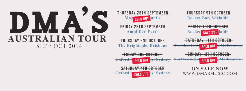 DMA'S ON TOUR