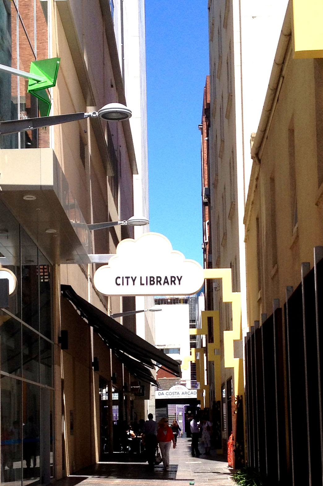 Entrance to the City Library on Francis Street ( via the Adelaide City Council)
