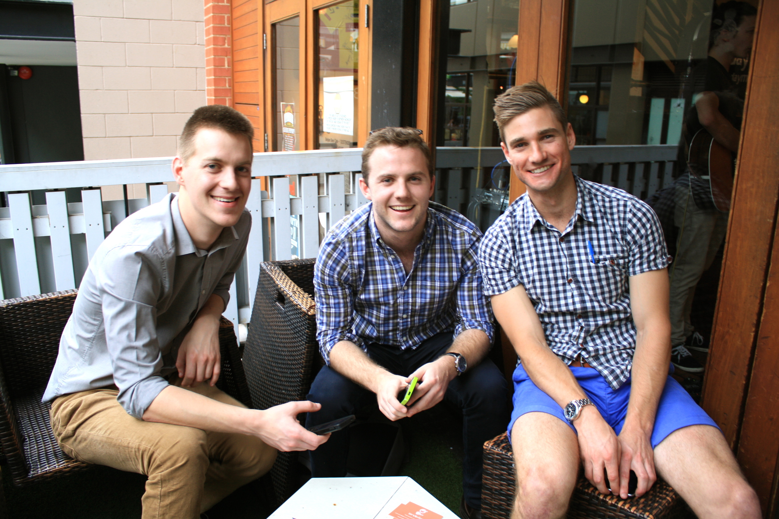 (left) Mitch, Lucas and Charles