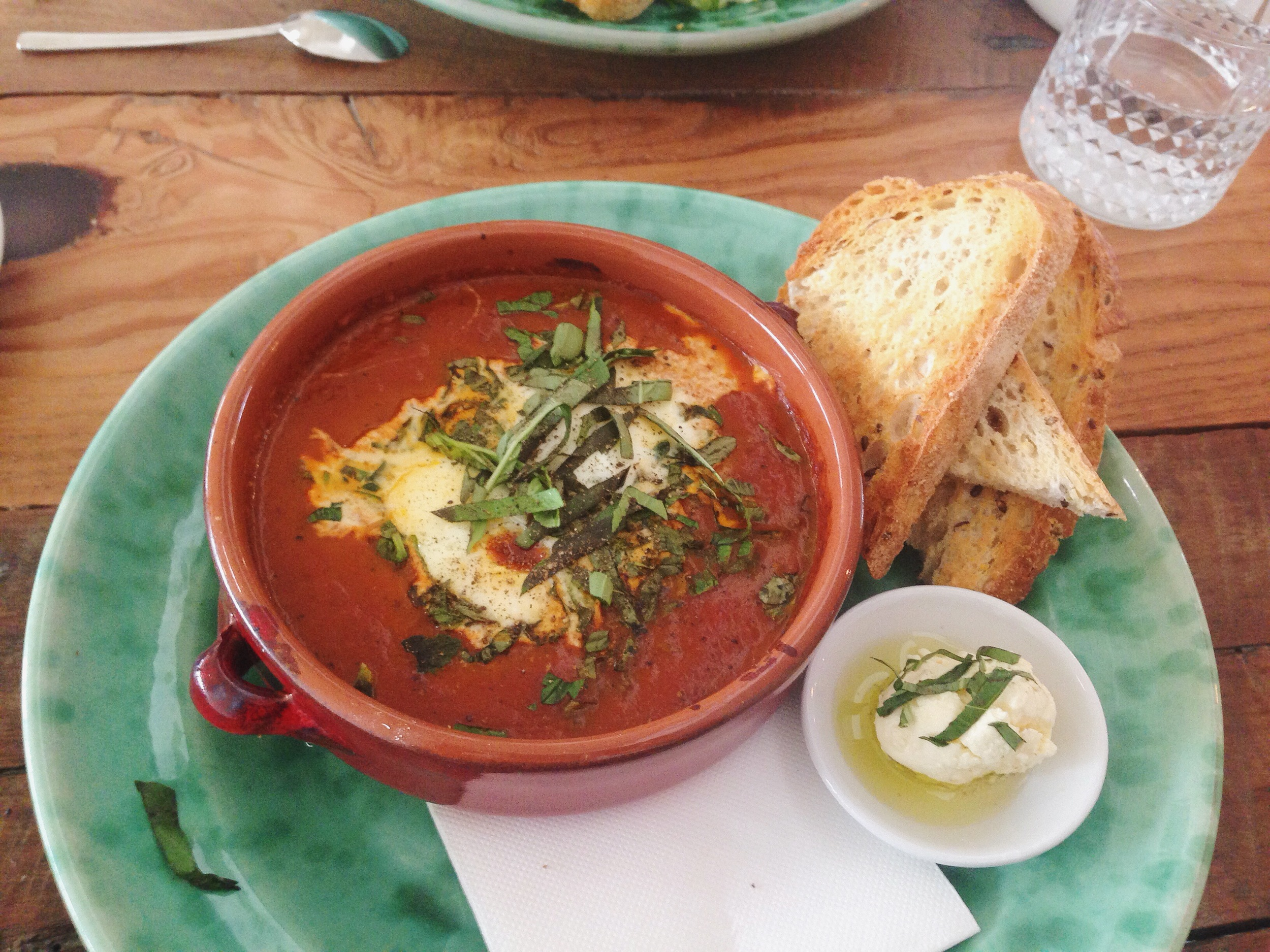 Baked Eggs with a surprise side of creamy feta