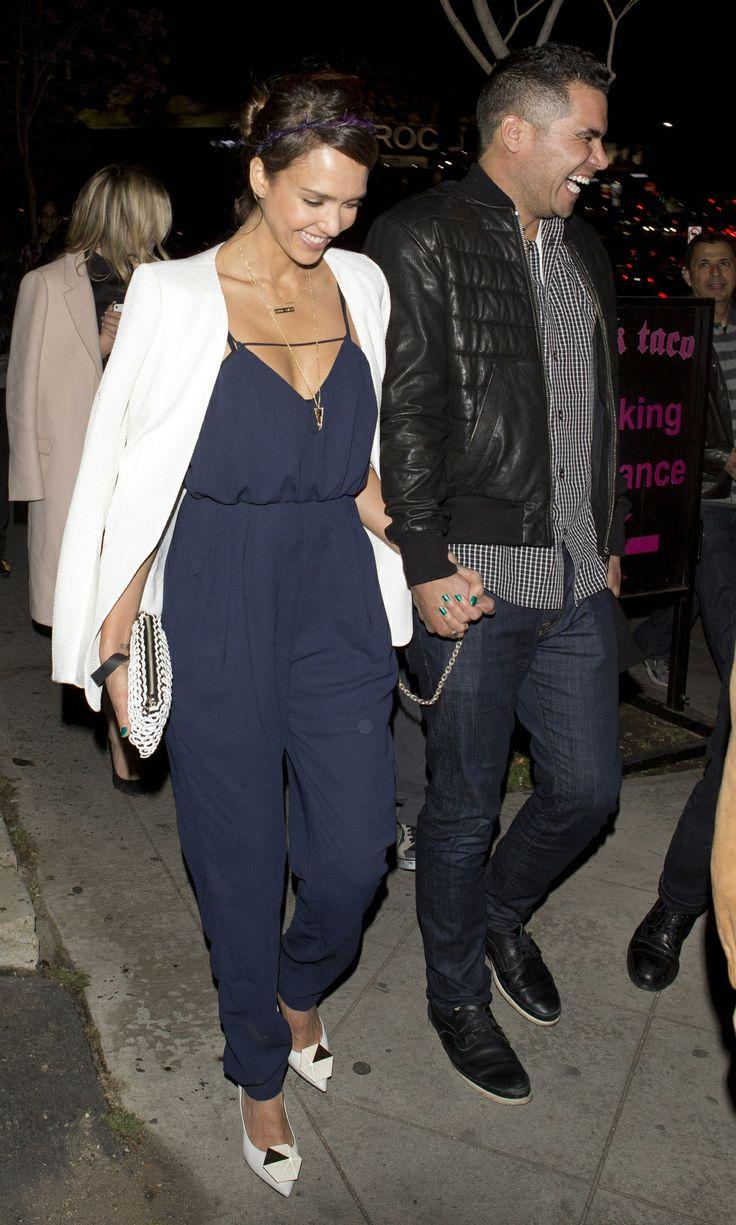 Jessica Alba wearing Finders Keepers (with husband Cash Warren) via Pinterest