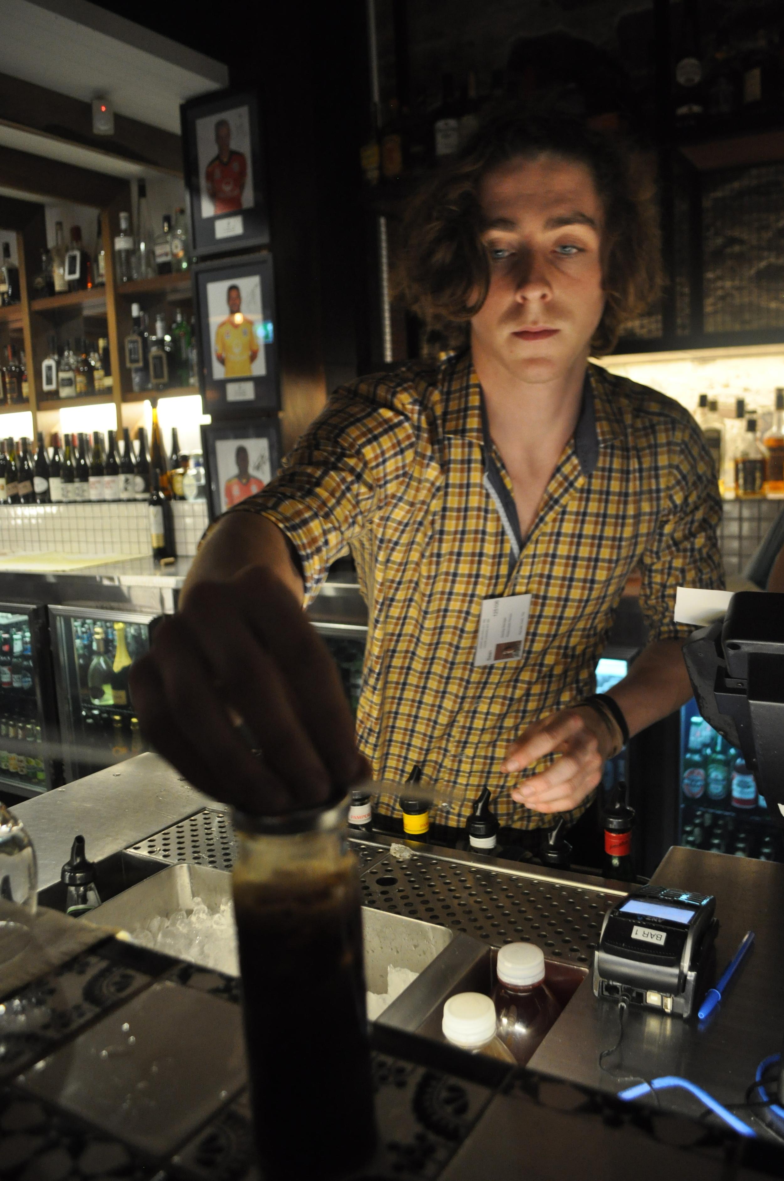 Sean fixes the meanest Espresso Martini in town.