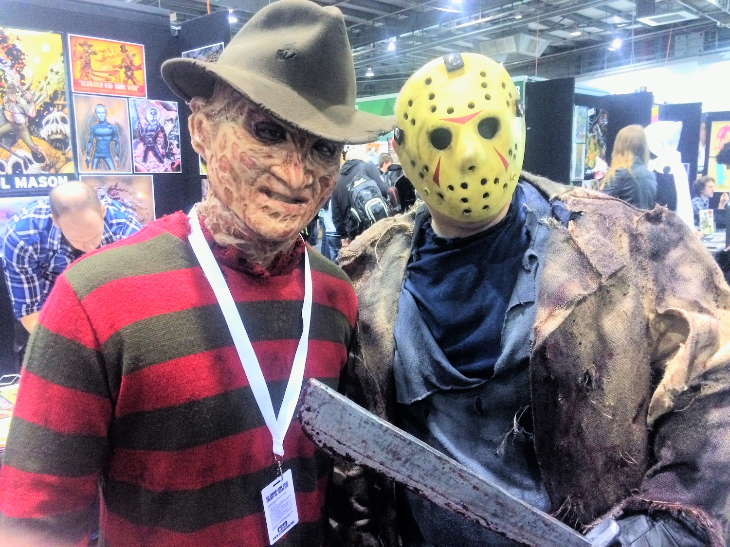 Spitting image of the real Freddy vs Jason, scary stuff.