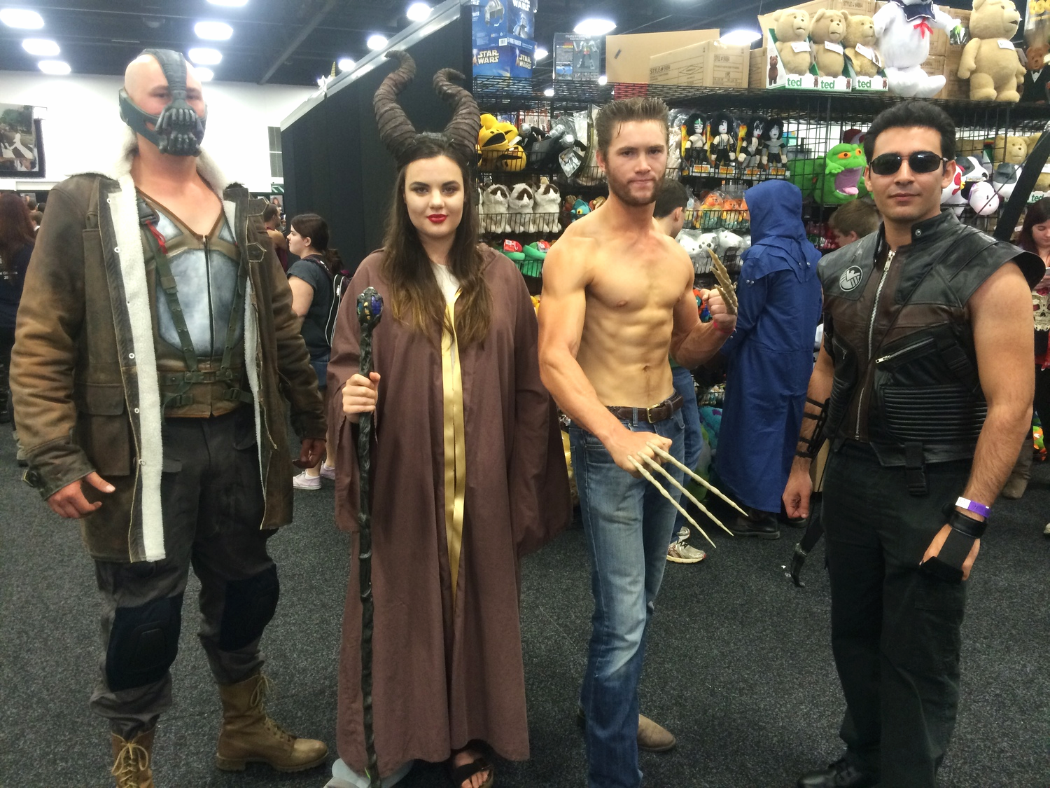 Bane, Maleficent, Wolverine, and Hawkeye! With friends like these, you won't have enemies.