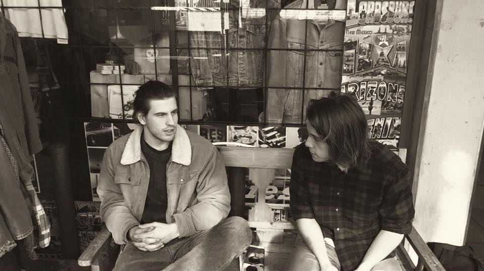 Ollie English being interviewed by RADL music writer, Jason Katsaras