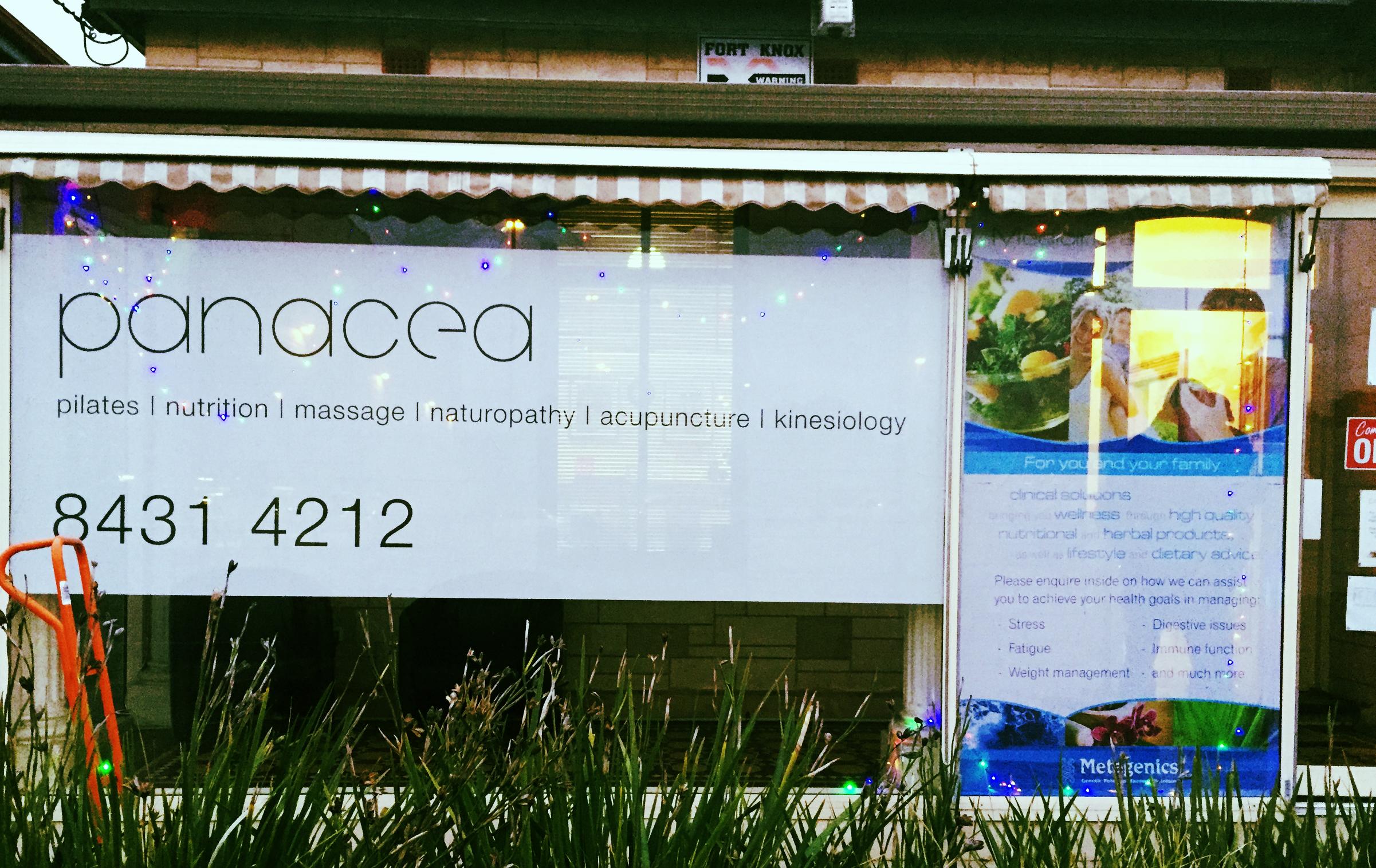 Front look of Panacea Studio.