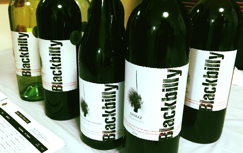 Sampling Blackbilly wines.