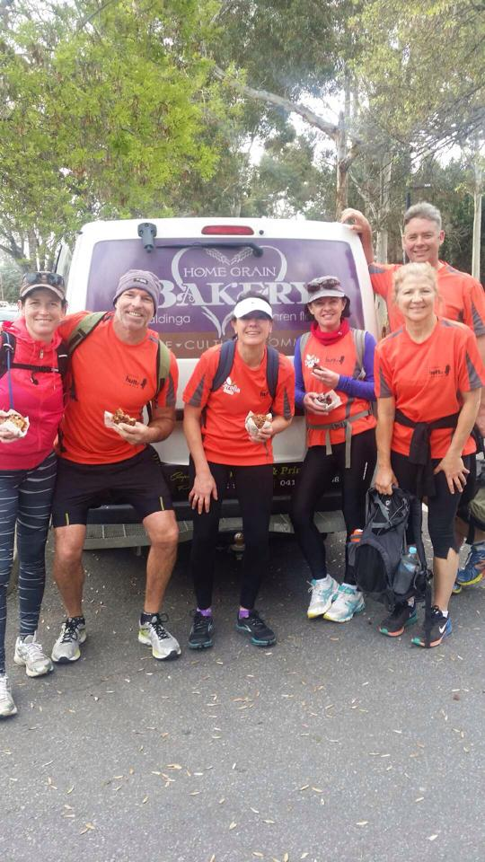 A few of the Willunga Wanderers (left to right: Sarah Marquis, Mike Brown, Julie Day, Danielle Bayard, Leonie Hick and Jock Harvey)