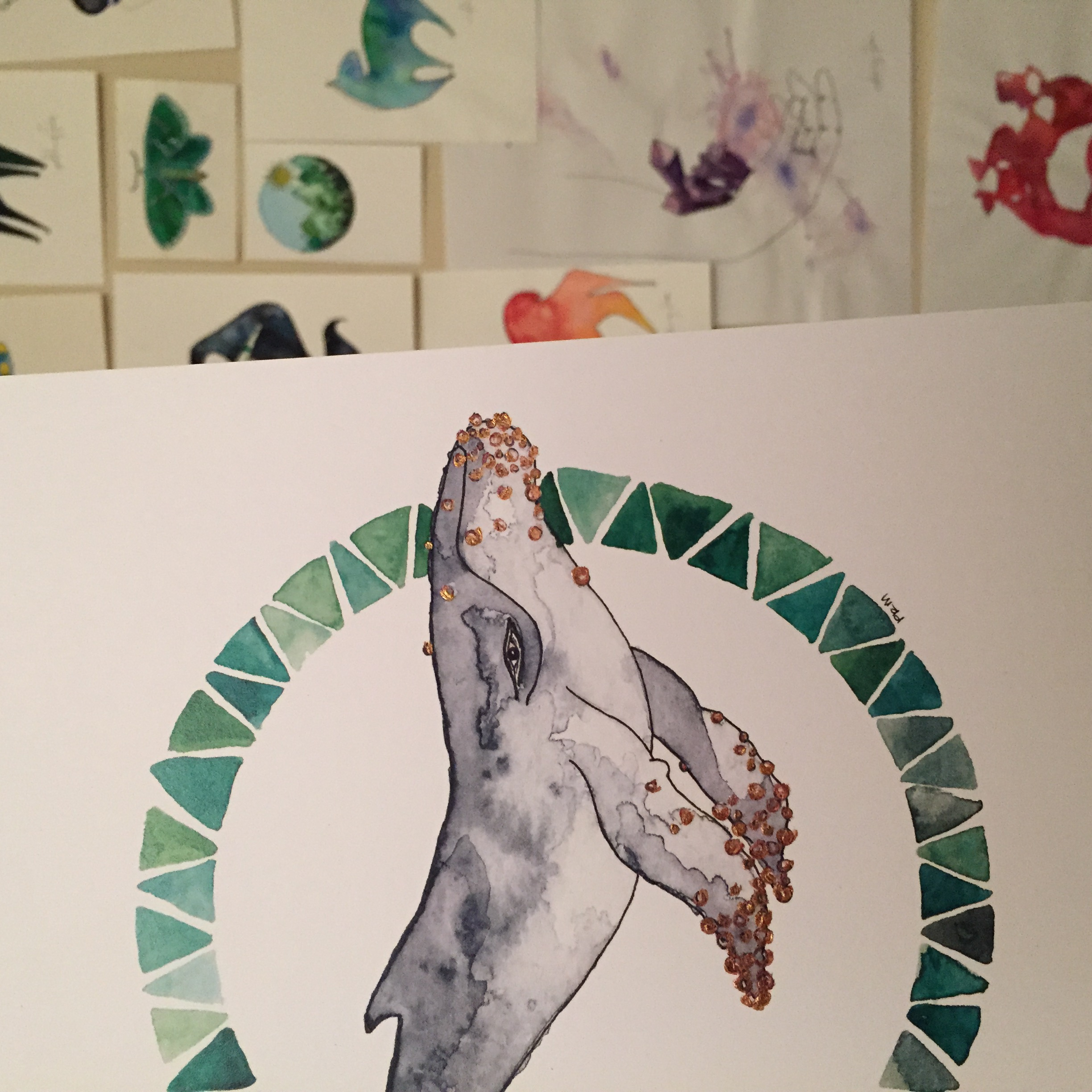52 Hertz the whale, part of Macaulay's lonely animal series