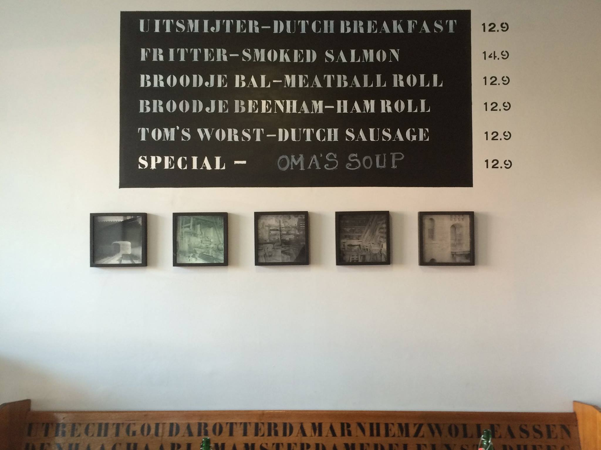 Menu Dutch Coffee Lab