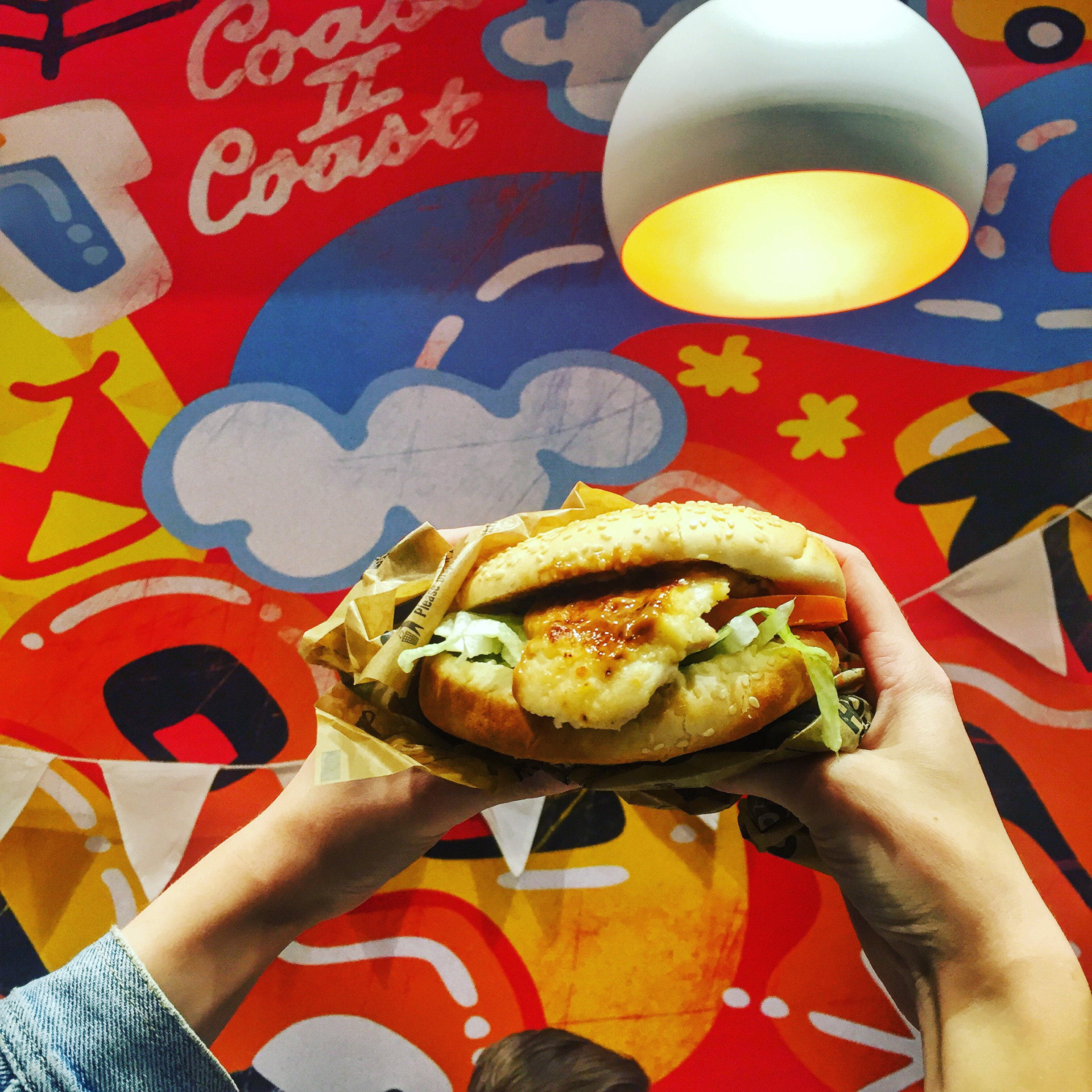 The Double Fillet Oprego Burger - send in the Holy light.