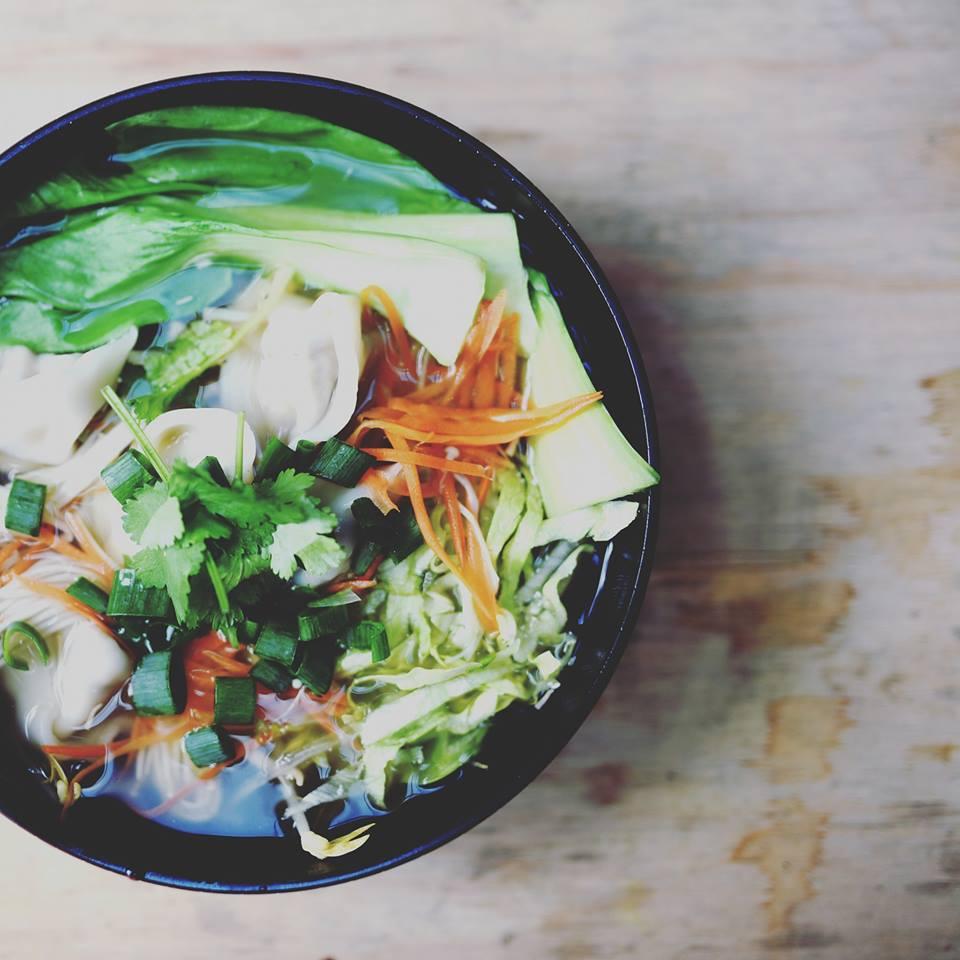 Homemade vegan dumpling soup  via Adelaide Food Central