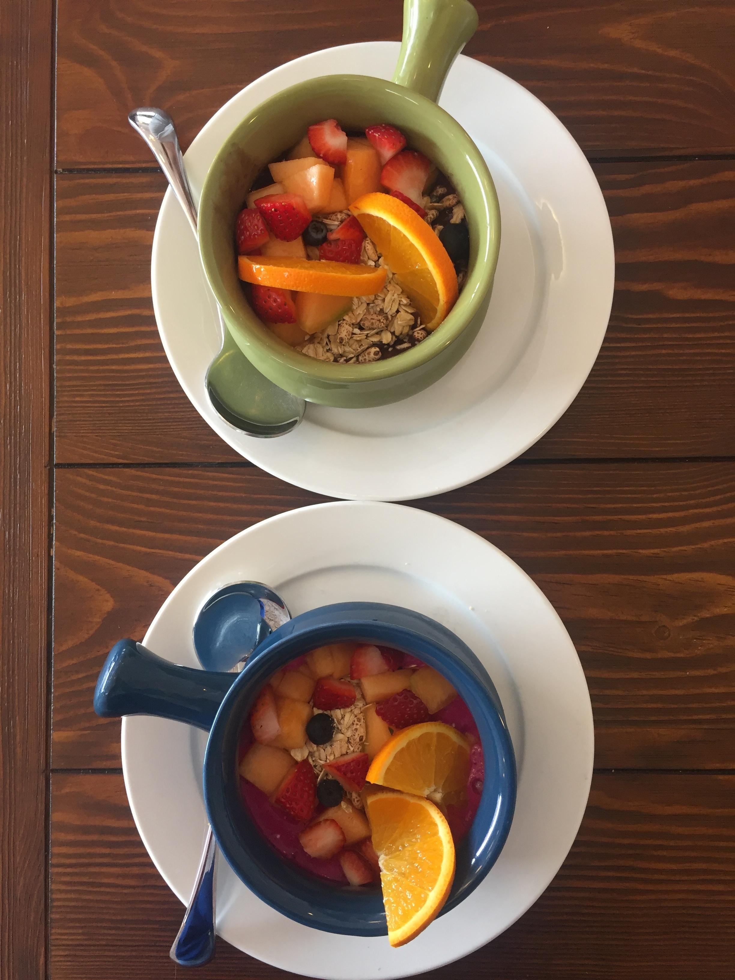Acai Bowl and Pink Pitaya Bowl
